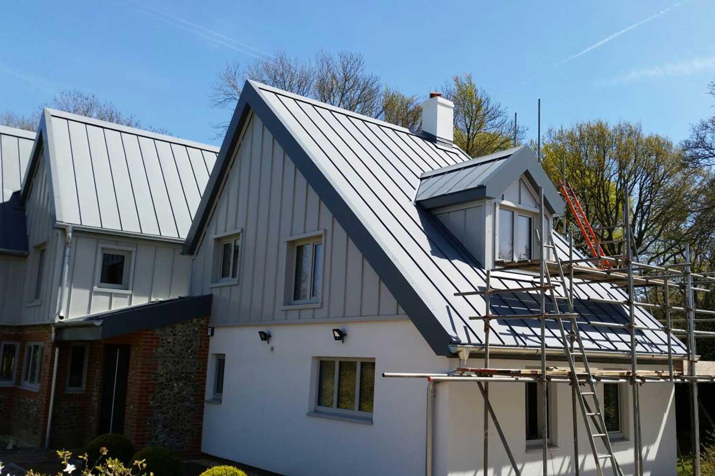 Pond cottage roof