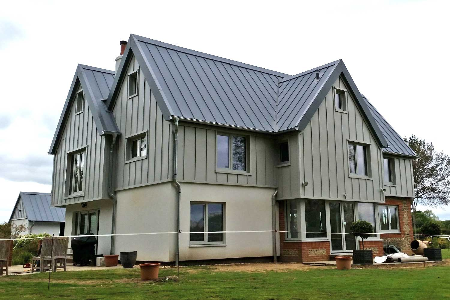 New home with cladding