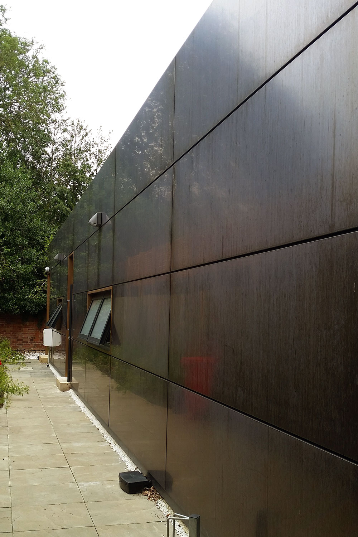 Bronze exterior cladding